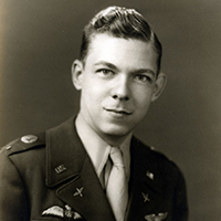 "Retired U.S. Air Force Maj. Charles ""Chuck"" Neyhart ('44, BFTS),"