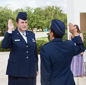 U.S. Air Force 1st Lt. Emily Angell ('12, DB)